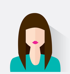 Avatar of the modern woman vector