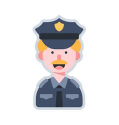Avatar policeman flat vector