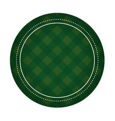 Badge patron green irish vector