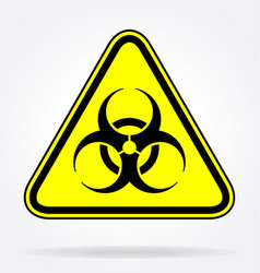 Biohazard symbol in yellow triangle vector