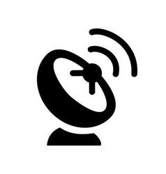 Black Satellite Icon vector