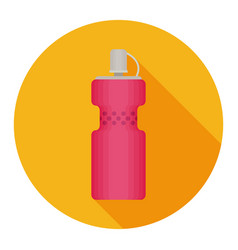 bottle water modern flat icon with long shadow vector image
