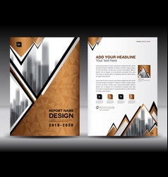 Business brochure flyer template in a4 size vector