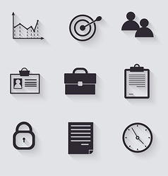 Business career icons vector image