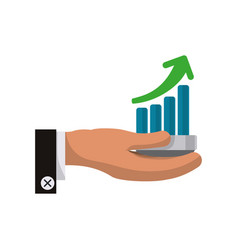 business growing statistics vector image