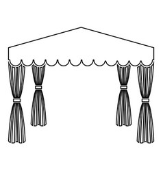 Canopy pop up tent commercial pavilion awning for vector