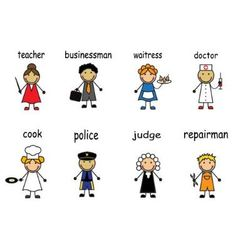 Cartoon people of various professions vector image