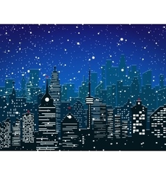 Christmas and new year winter urban cityscape vector