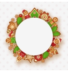 Christmas frame with place for your text vector