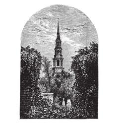 Church steeple vintage vector