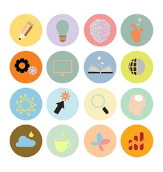 Creative set icon flat design eps10 vector