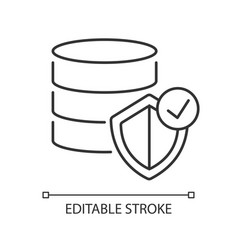 datacenter security pixel perfect linear icon vector image