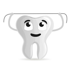 dental floss icon cartoon style vector image