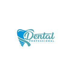 dental professional logo template vector image