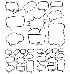 different shape of speech bubbles vector image