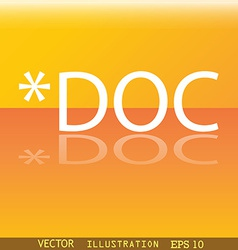 Doc file extension icon symbol Flat modern web vector