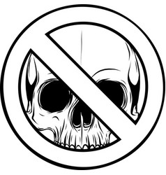 draw in black and white prohibited warning vector image