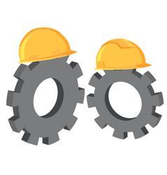 engineer gear symbol on white background vector image