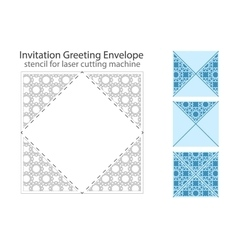 Envelope template for laser cut vector