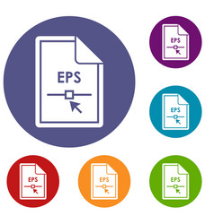 File eps icons set vector