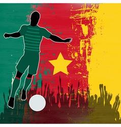 Football Cameroon vector image
