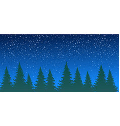forest silhouette against background vector image