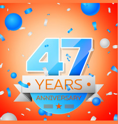 Forty seven years anniversary celebration vector