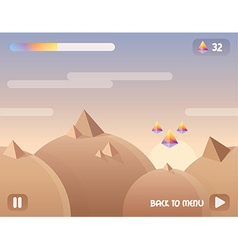 Game user interface background level design with vector