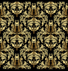 gold baroque seamless pattern ornate antique vector image