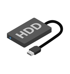 Hard disk drive icon cartoon style vector