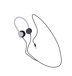 Headphones or Headphones on A White Background vector