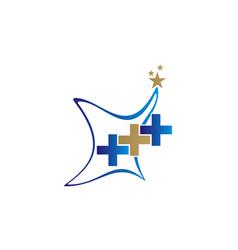 Healthy care information logo design template vector