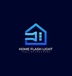 home flash light template vector image
