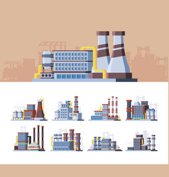 industrial buildings colorful flat vector image