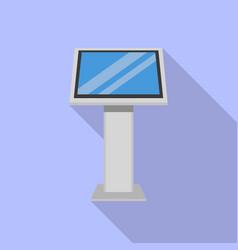 info kiosk icon flat style vector image