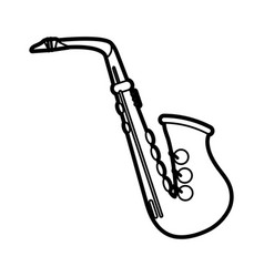 Isolated saxophone design vector