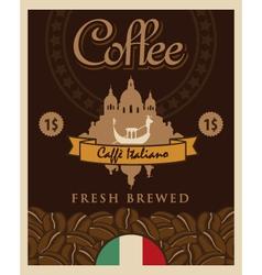Italian coffee vector