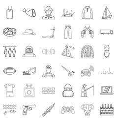 Labour legislation icons set outline style vector