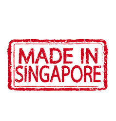 made in singapore stamp text vector image