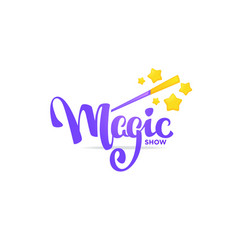 magic show letteing composition for your logo vector image