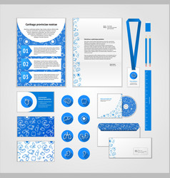 Medical corporate identity design with modern flat vector