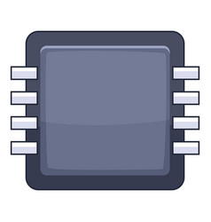 microprocessor icon cartoon style vector image