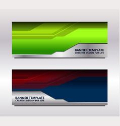Modern web banner vector
