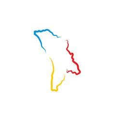 Moldova map logo icon design element vector