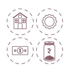 Money savings design vector