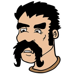 moustache man vector image