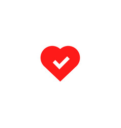 ok good heart health icon vector image