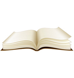 open book on a white background vector image