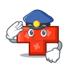 Police cross character cartoon style vector