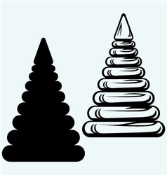 Pyramid from plastic rings vector image